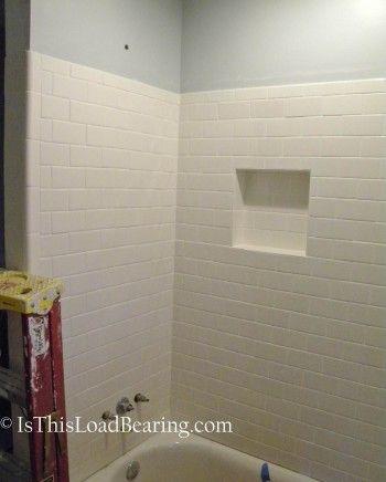 White subway tile in tub surround - hall bath?   Bathrooms ...