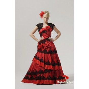 Black And Red Lace Wedding Dresses - Missy Dress