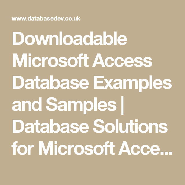 downloadable microsoft access database examples and samples database solutions for microsoft access databasedev