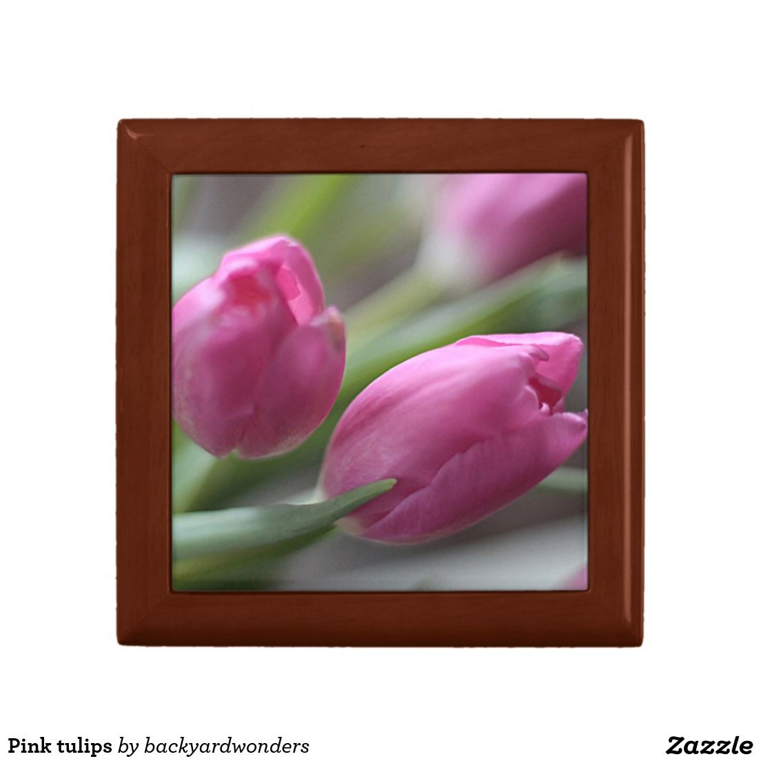 Pink tulips gift boxes