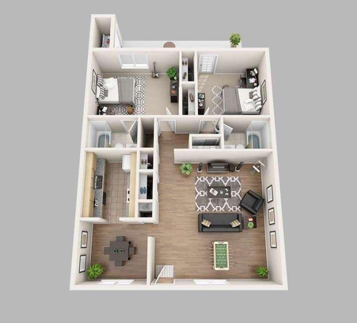 30 Denah Rumah Minimalis Terbaik Tren 2019 Rumah Minimalis Denah Rumah Rumah