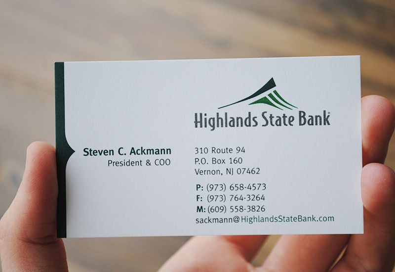 Highlands state bank business card designed by fatrabbit creative business cards reheart Choice Image
