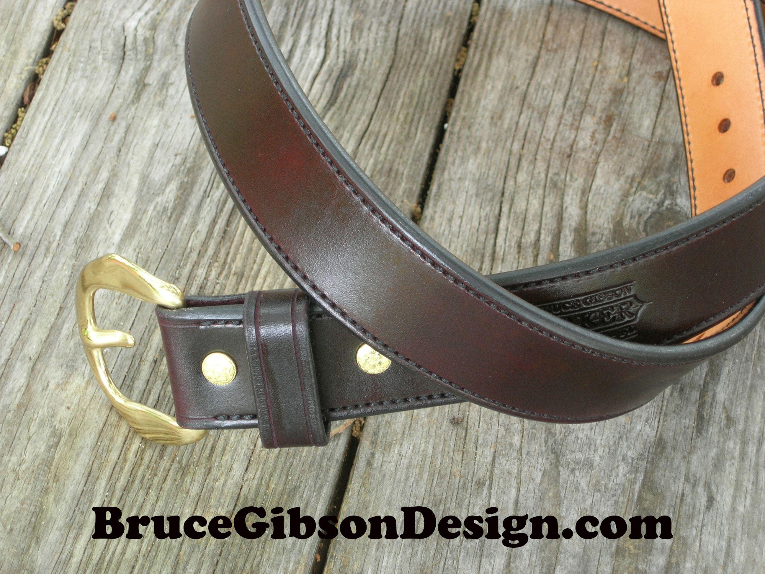 Black two inch wide gun belt
