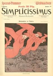 6 [1904, Dec 20] Christmas in Asia (Weinachten in Ostasien), Wilhelm Schulz cover of Simplicissimus 39, Vol. 9, p.381
