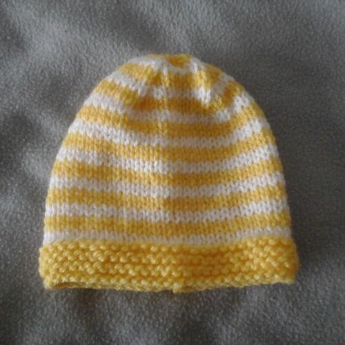 Bonnet prématuré naissance ou poupée , reborn fait main neuf   Mode ... 850def141b3