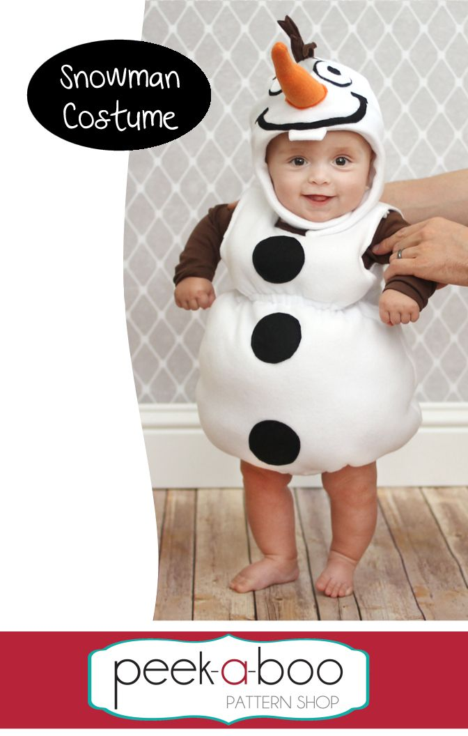 Snowman Costume - Peek-a-Boo Pattern Shop