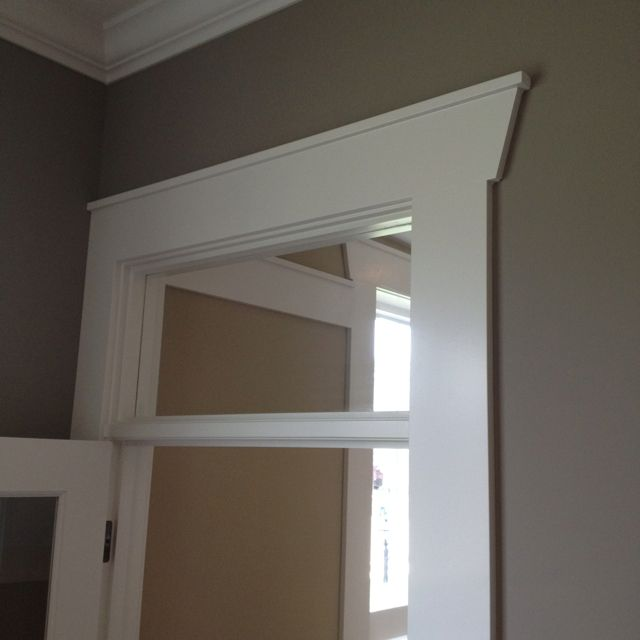 Angled door casing header | Kitchen: Baseboard | Pinterest ...