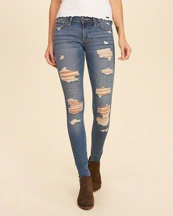 Hollister Shredded Low-Rise Super Skinny Jeans | jeans in ...
