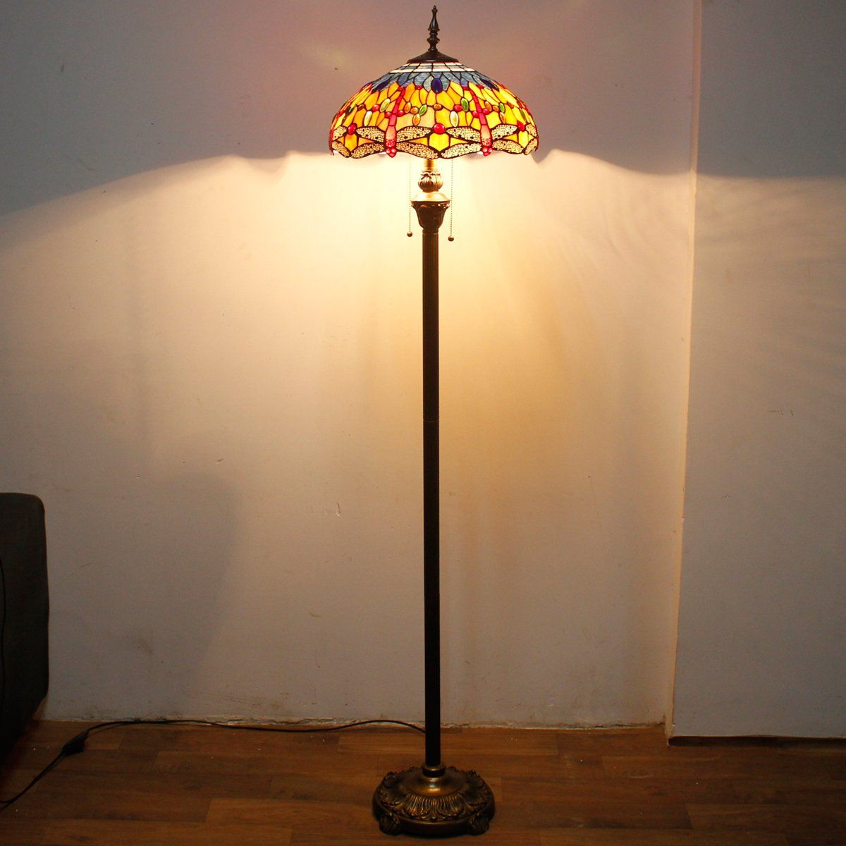 WERFACTORY Tiffany Lamp Floor Reading light 64 inch tall