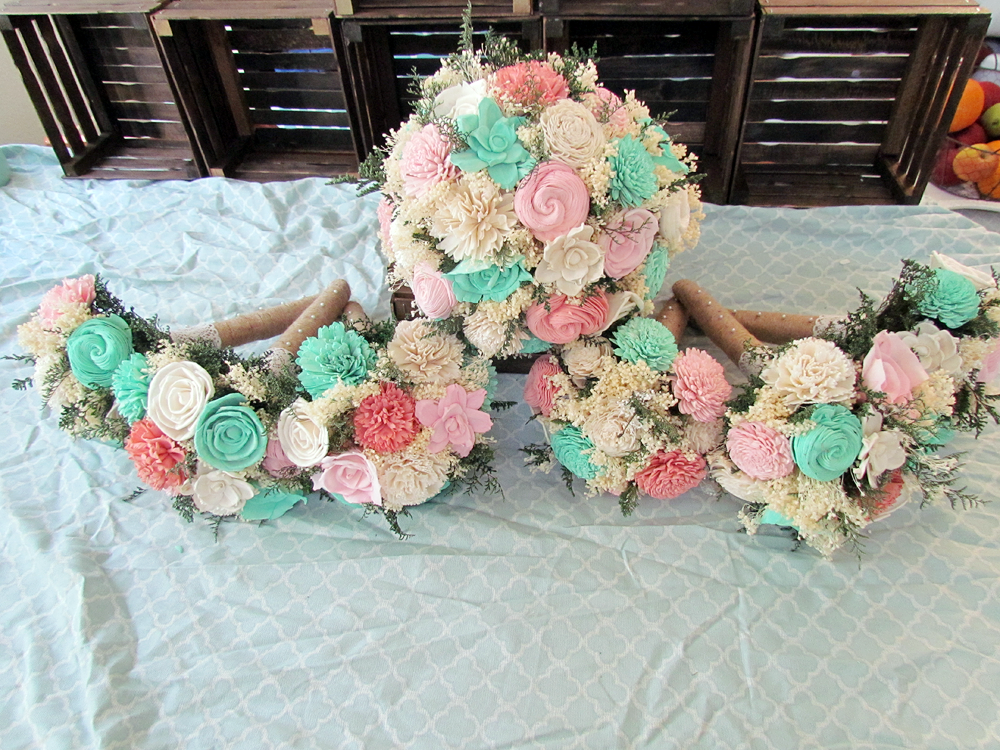 DIY Sola Flower Bouquets Finished!! - Weddingbee | All things ...