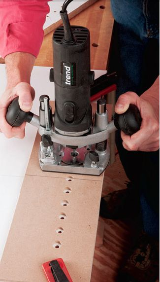 Drilling With Trim Router Trim Router Woodworking Woodworking Saws