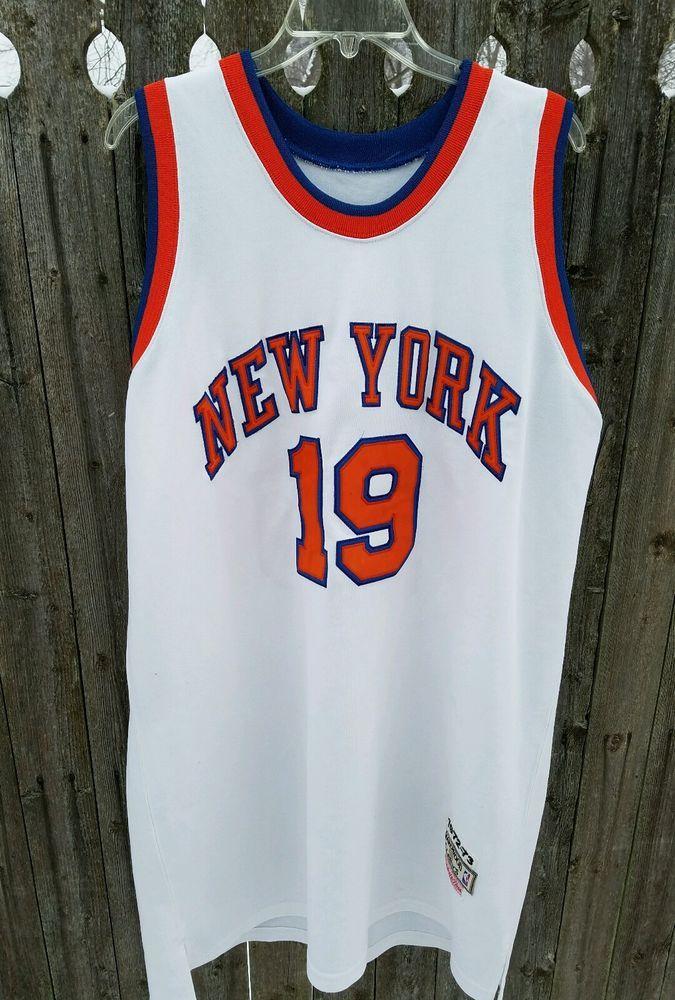 cheap for discount 839f1 2d778 Mitchell Ness New York Knicks Jersey Willis Reed 19 2Xl ...