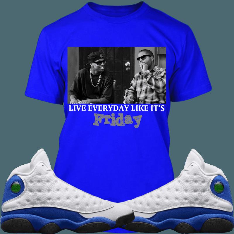 6523d99eee5416 Jordan 13 Hyper Royal Sneaker Tees Shirt - FRIDAY
