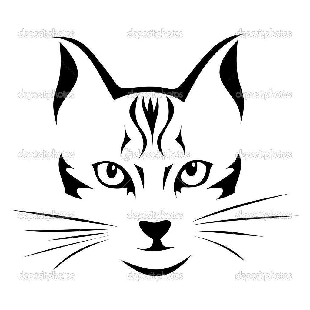 Http St Depositphotos Com 1341440 2018 V 950 Depositphotos 20188599 Black Silhouette Of Cat Vector Illustration Jpg Cat Face Drawing Cat Vector Cat Tattoo