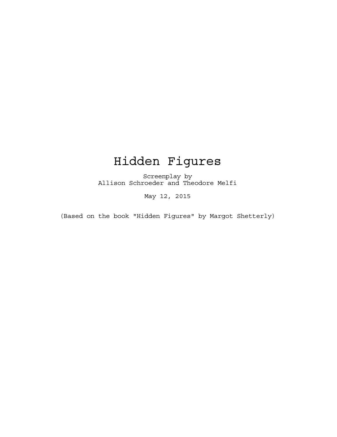 Hidden Figures Worksheet Answers Hidden Figures Screenplay