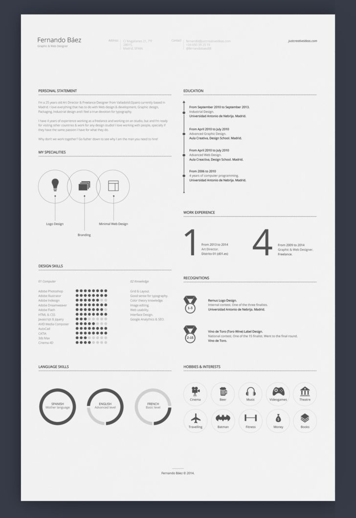 7 Free Editable Minimalist Resume CV In Adobe Illustrator And - hobbies and interests on resume