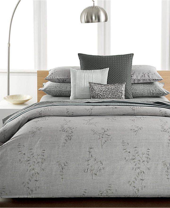 Calvin Klein Closeout Staggered Lines Queen Coverlet Bedding
