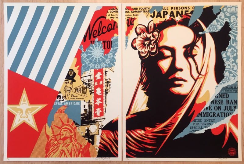 "Obey Giant Shepard Fairey /""Hammer /& Fist/"" Signed /& Numbered #XX//450 READY 2 SHIP"