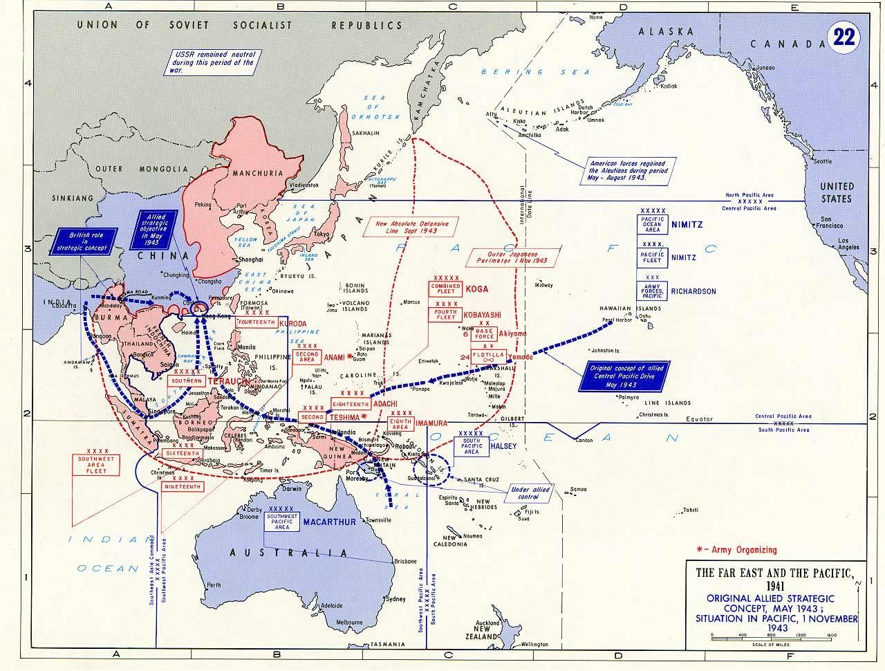 Map Map Of Situation The Pacific War As Of 1 Nov