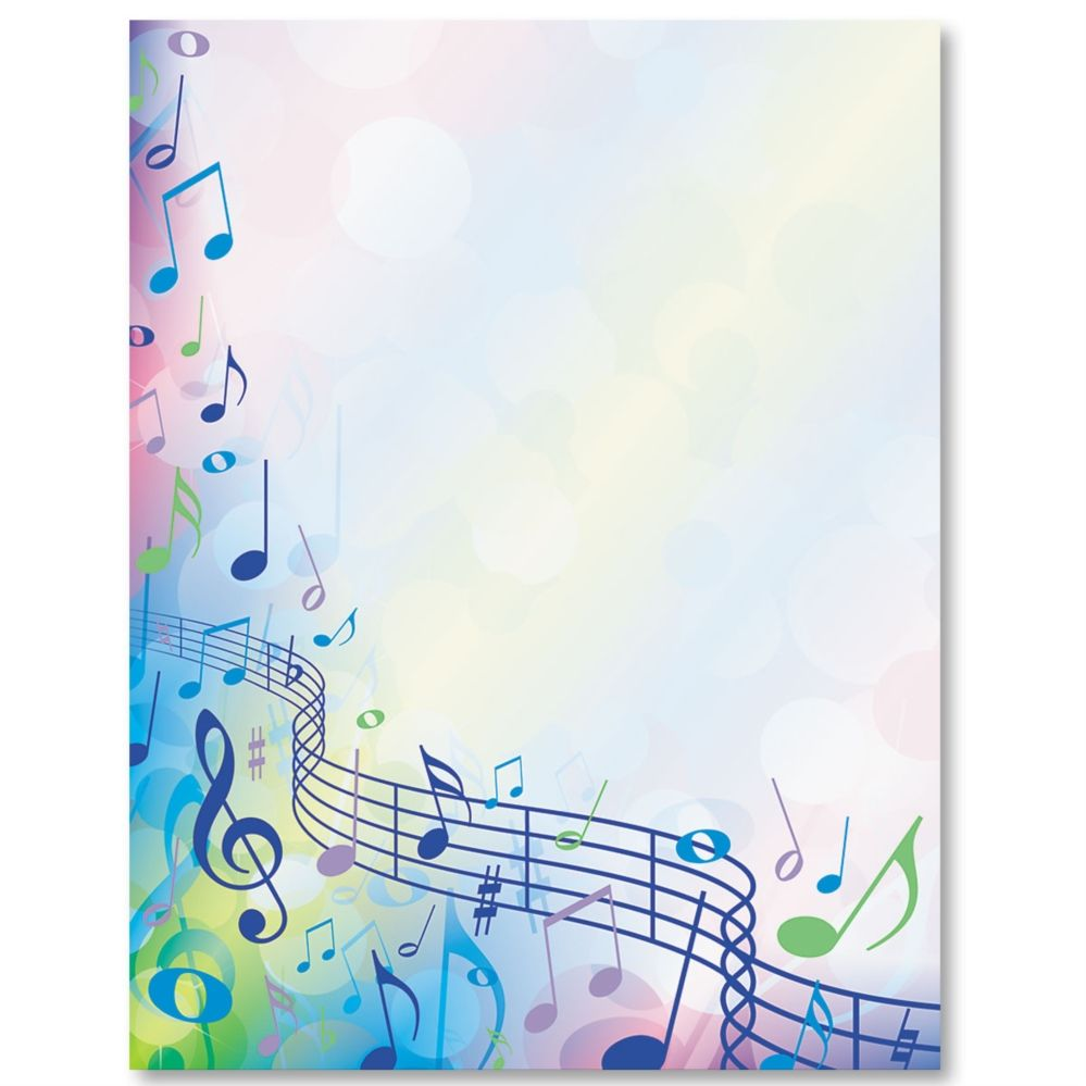 music festival border papers stationary note and music