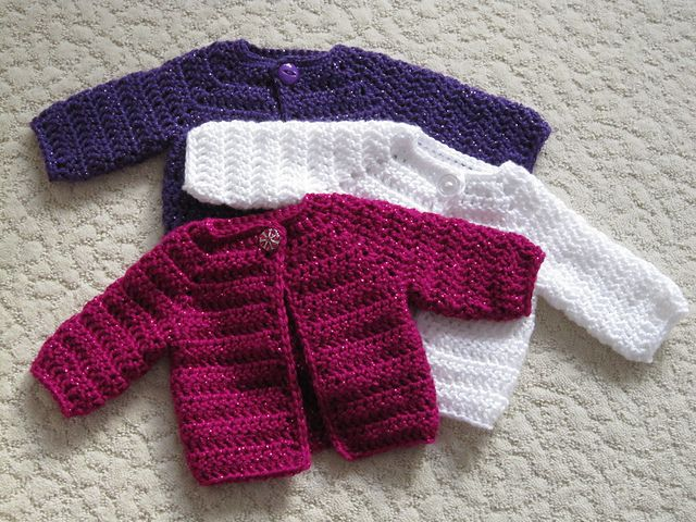 c280a1fd3b00 Ravelry  Crocheted Baby Sweater pattern by Beth Koskie