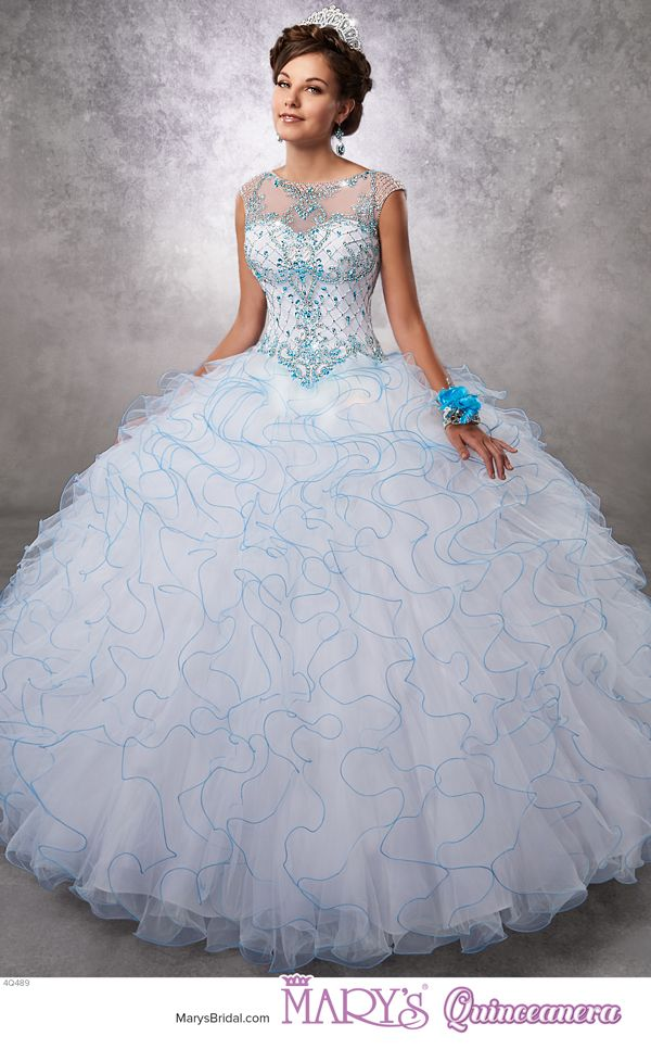 1c62eb103ed Princess style 4Q489 • Tulle quinceanera ball gown with beaded bodice