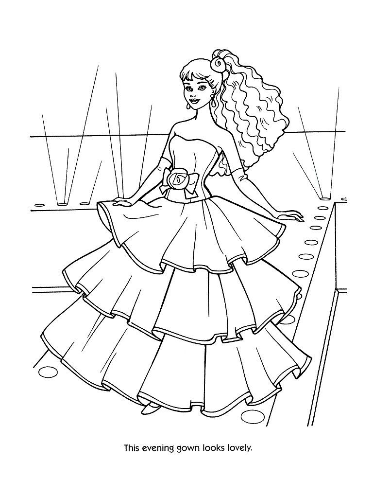 Barbie Fashion Coloring Pages 44 Kids Printables
