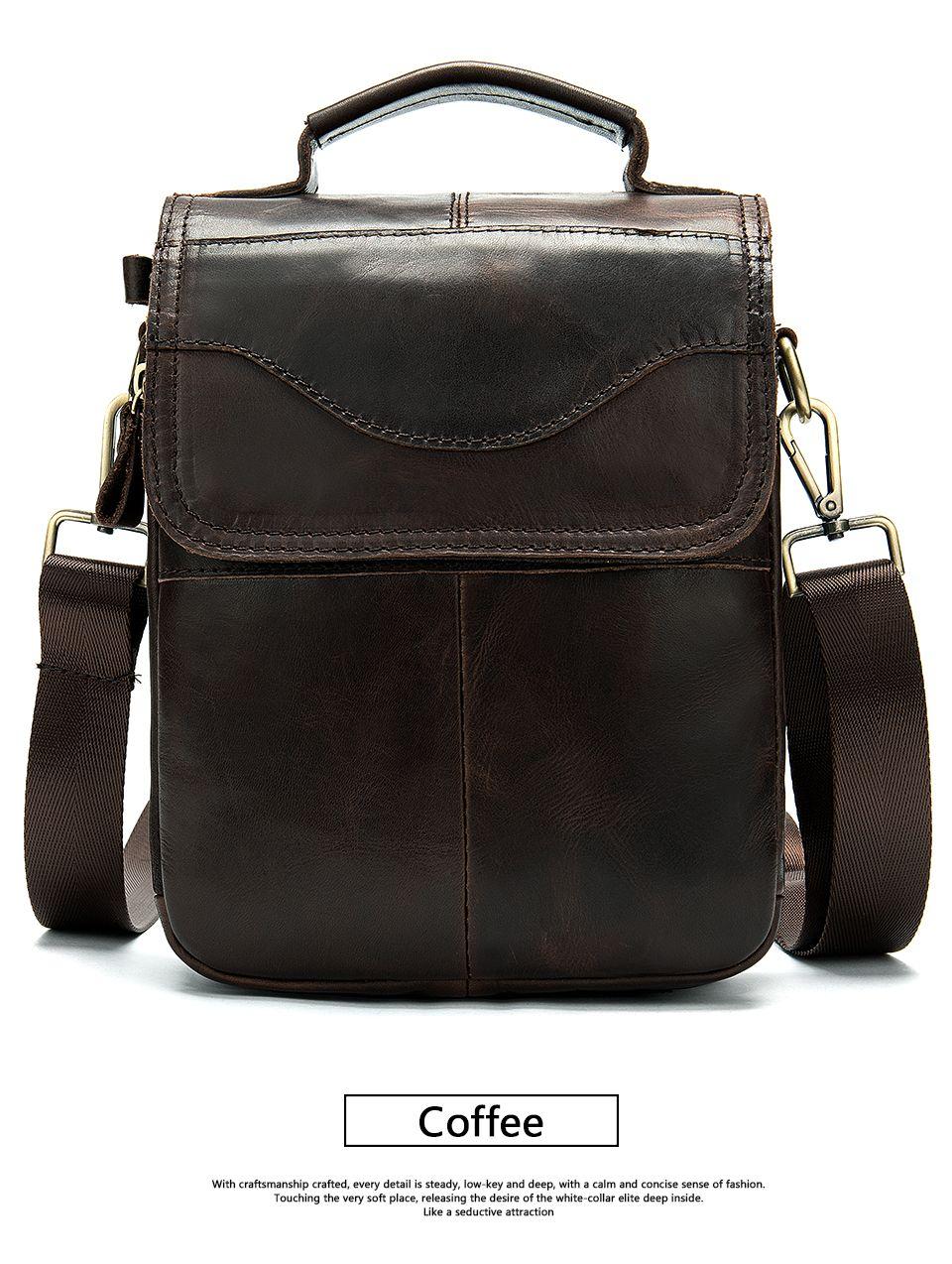 Men/'s Soft Leather Messenger Bags Shoulder Bag Crossbody Handbag Briefcase Bag