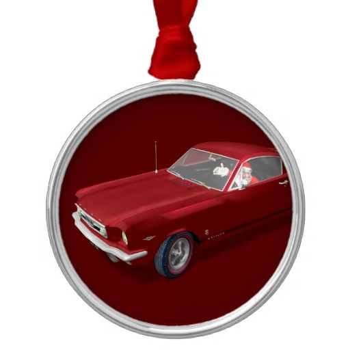 Santa Claus In Ford Mustang Christmas Ornaments - Santa Claus In Ford Mustang Christmas Ornaments Shiny New Project