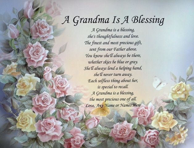 Grandma is a blessing poem personalized birthday for Birthday gifts for grandma from granddaughter
