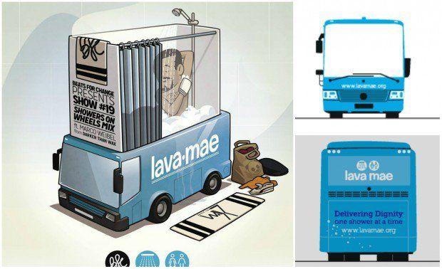 A ativista Doniece Sandoval criou o Lava Mae (Lave-me, na tradução livre), um projeto que leva banheiros públicos para moradores de rua nos EUA.