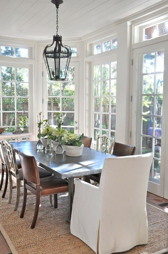Sunroom Dining Room Ideas Color Outside The Lines A Little Moderntraditional Mix