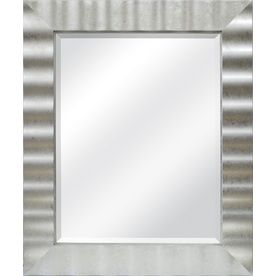 Picture Collection Website Shop allen roth in x in Silver Leaf Rectangular Framed Mirror