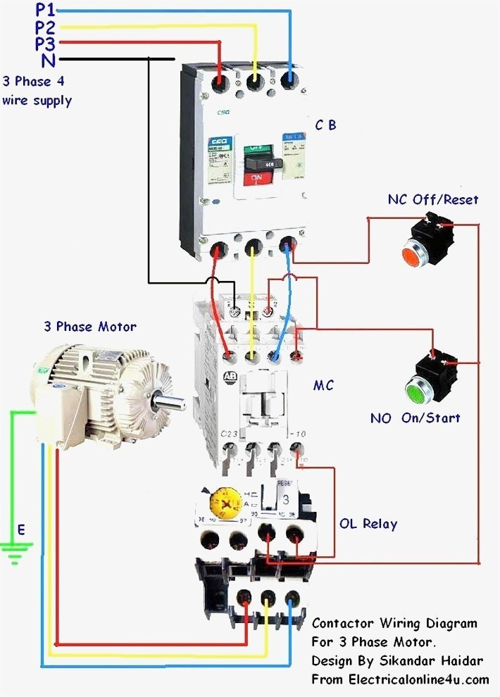 3 Phase Motor Contactor Wiring Diagram Contactor Wiring en ...