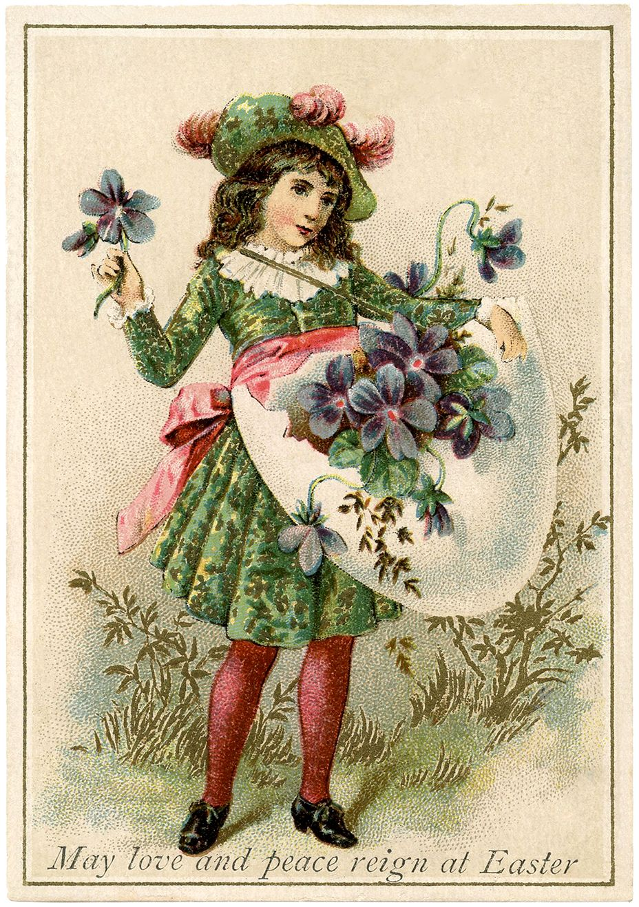Easter Violets Egg – Medieval Child