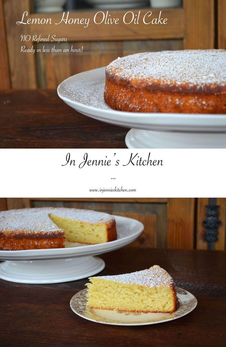Lemon Honey Olive Oil Cake Recipe Food Pinterest Cake