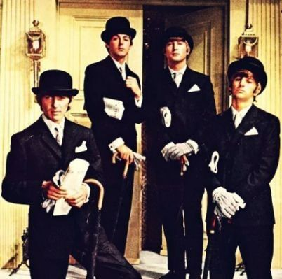 Bowler hat people by Tim Strycker The beatles, Bowler