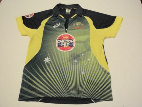 f8e19b6aecc Cricket Australia Jersey By Asics Carlton Mid Size Men Medium Kangaroos