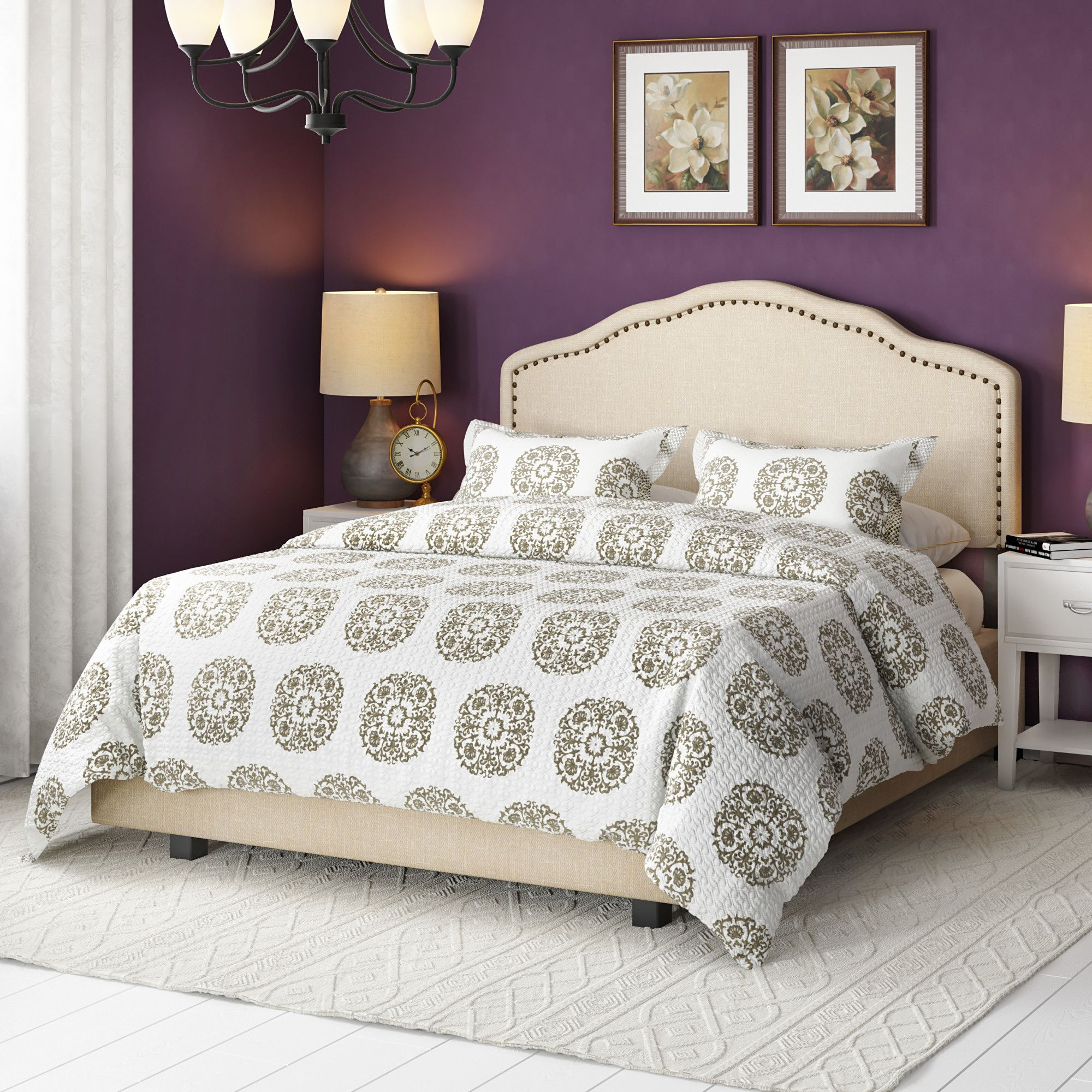 Boston Upholstered Panel Bed Bed, Panel bed