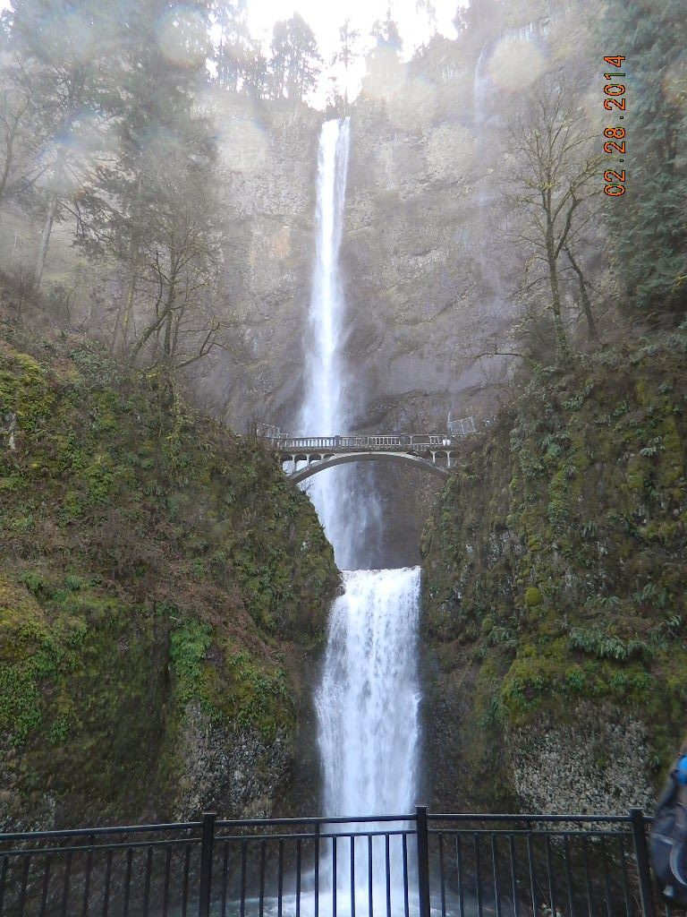 River Barges Water Falls Windmills The Columbia River Gorge Oregon Waterfall Multnomah Falls Water
