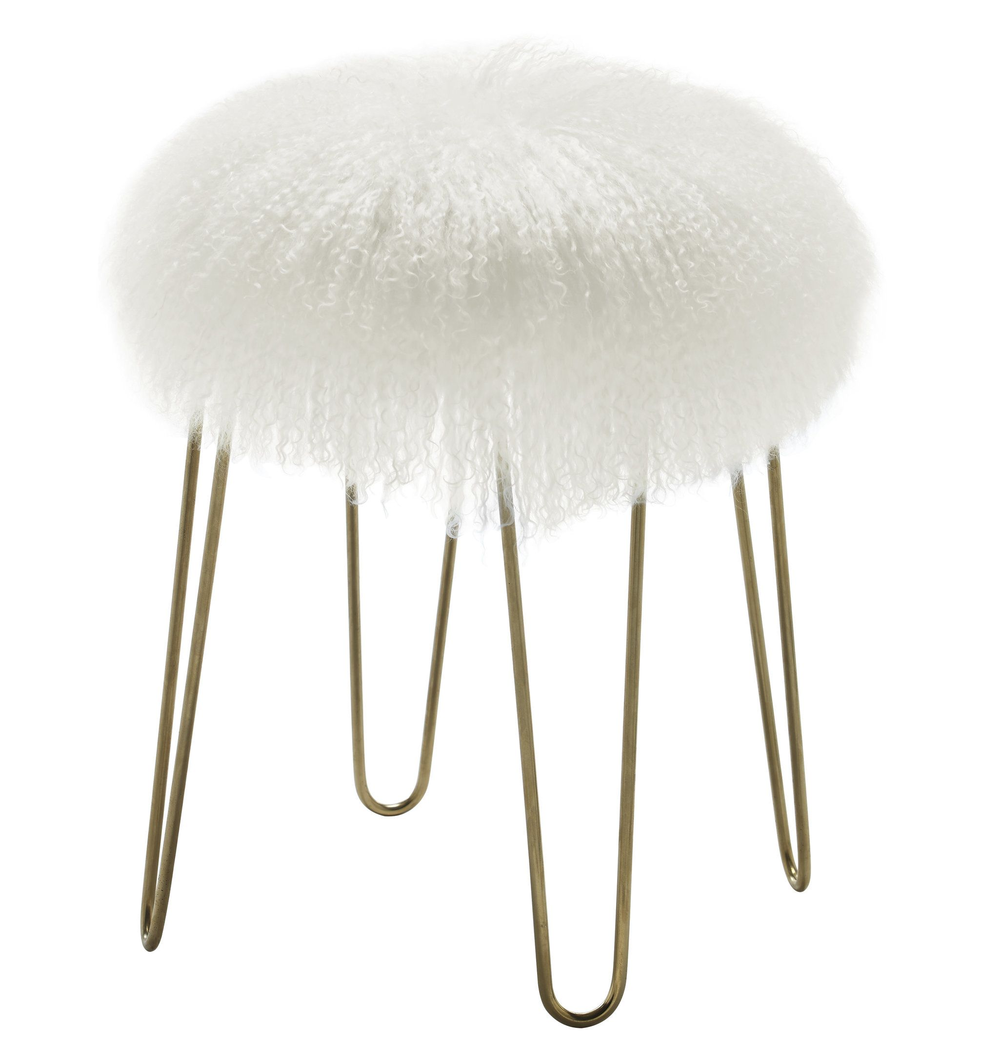 The shaggy, bohemian style of our Moorea Stool is combined