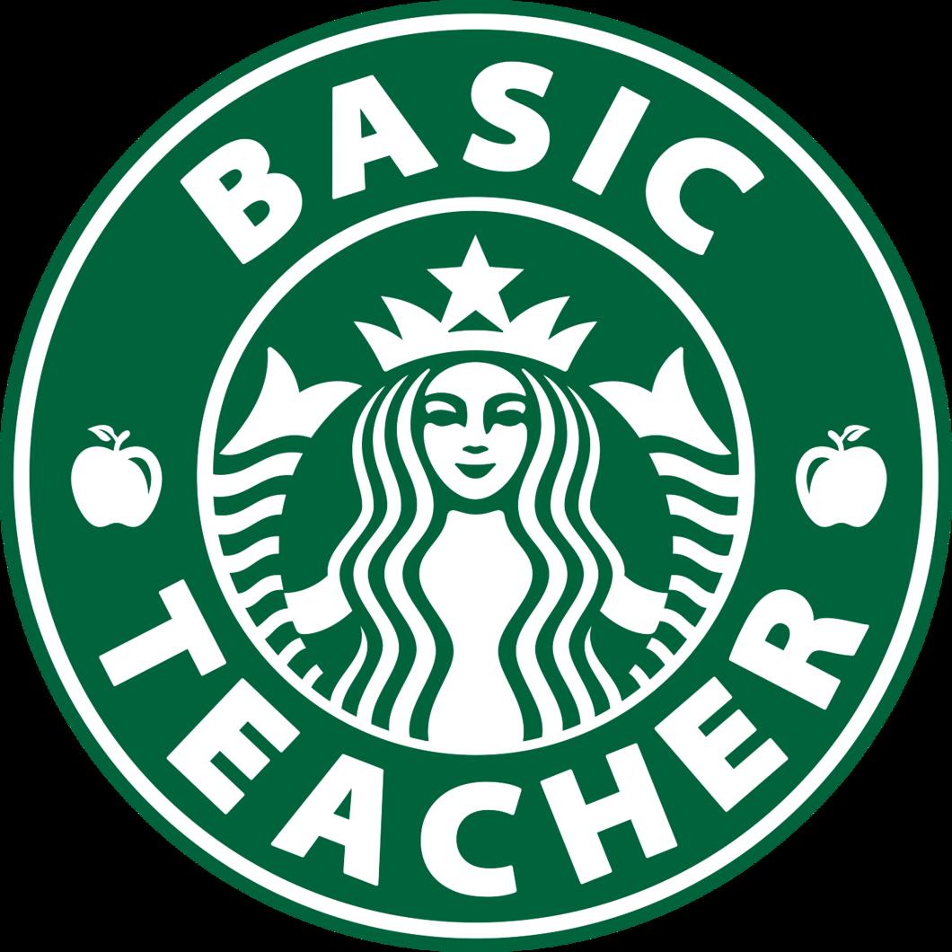 Basic Teacher Sticker Starbucks logo, Starbucks