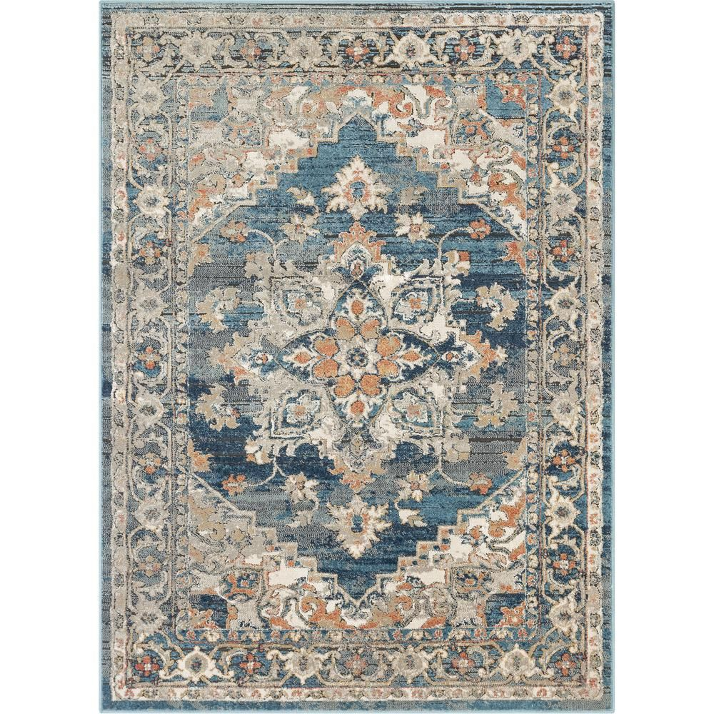Well Woven Tikal Ursula Black Blue Vintage Bohemian Oriental Medallion 5 Ft 3 In X 7 Ft 3 In Distressed Area Rug Tk 33 5 With Images Well Woven Vintage Bohemian Area Rugs