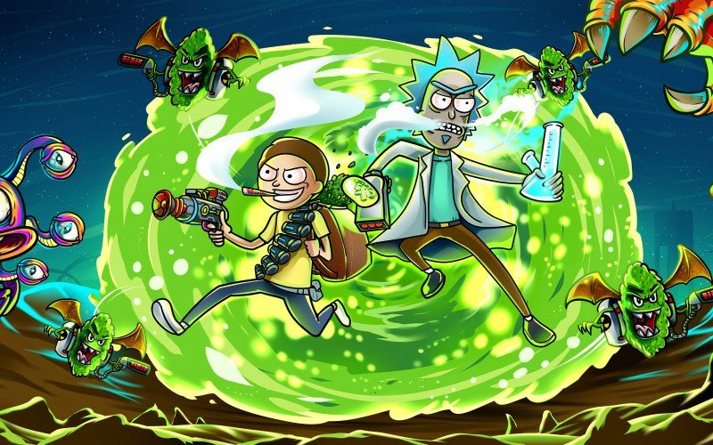 Wallpaper Rick And Morty Another Dimension Tv Show Illustration Rick And Morty Cartoon Wallpaper My Drawings