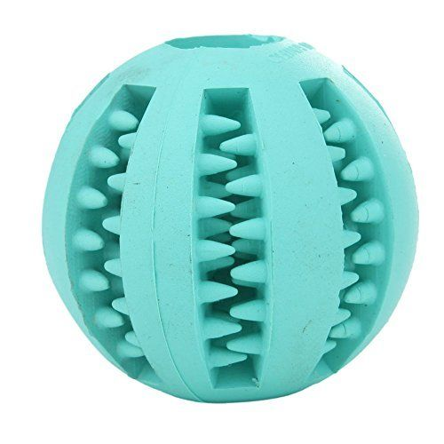 Toy Ball for Dogs - Dental Treat, Bite Resistant, Indestructible Non-Toxic Strong Tooth Cleaning Dog Toy Balls for Pet Training, Playing, Chewing - Soft Rubber, Bouncy, Tennis Ball >>> Check out this great product. (This is an affiliate link and I receive a commission for the sales)