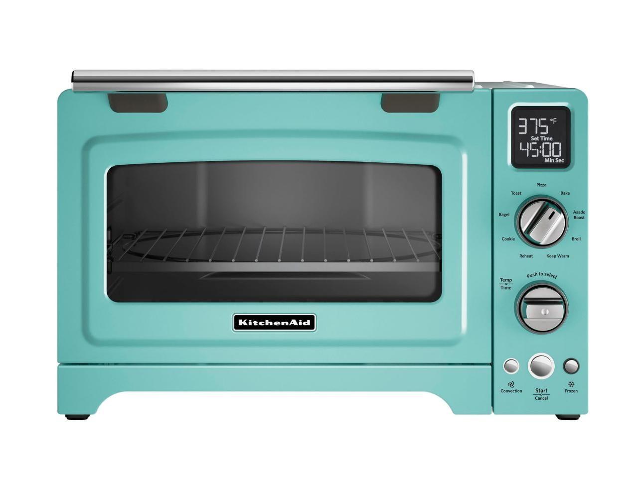 Convection Digital Countertop Oven In Aqua Sky 450 Kitchenaid
