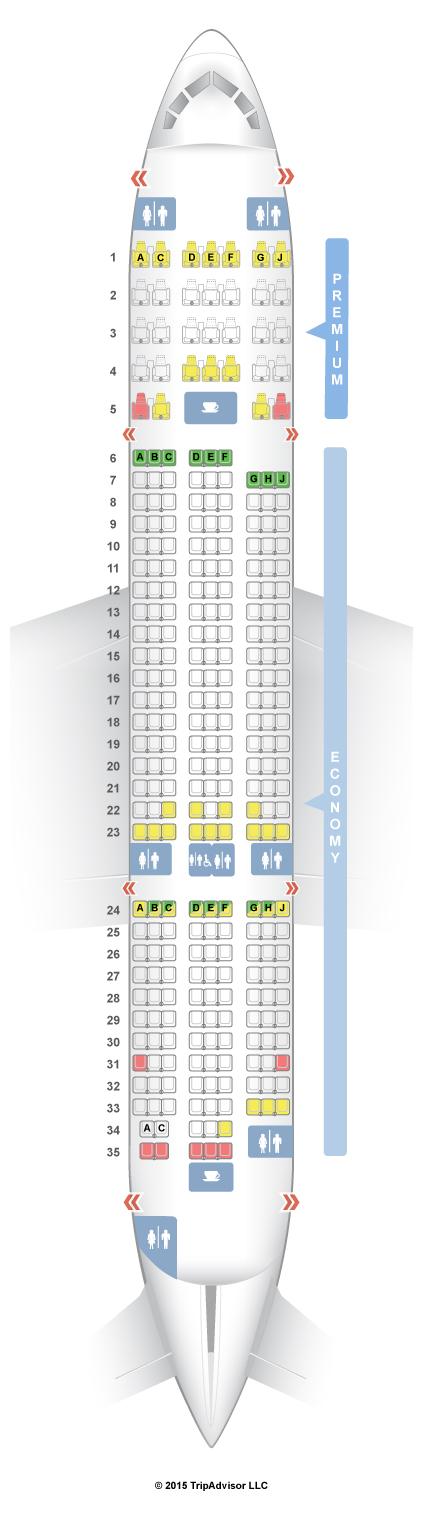 Boeing 787 Dreamliner Seating Plan Norwegian