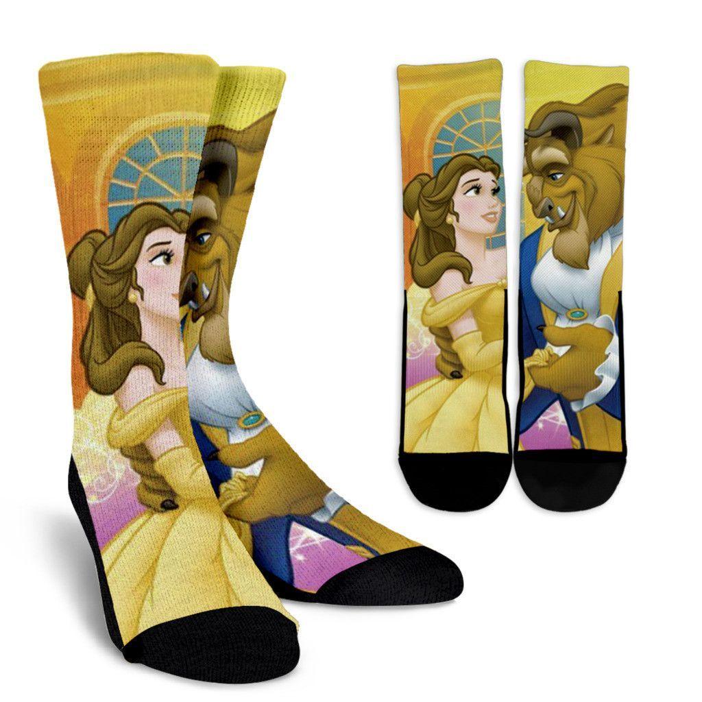 Brand new Ladies BEAUTY and the BEAST socks