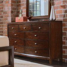 Dressers - Design: Standard Dresser (Horizontal), Number of Drawers: 8 or More   Wayfair