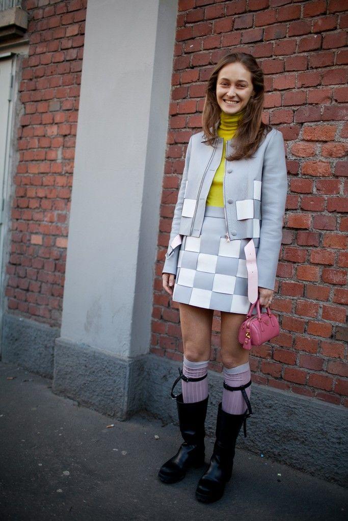 Milan Fashion Week street style. [Photo by Kuba Dabrowski]